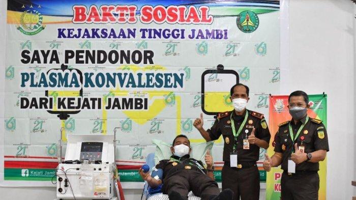 Dukung Program Pemerintah, Pegawai Kejati Jambi Donorkan Plasma Konvalesen