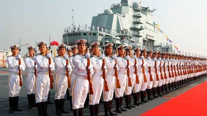 Angkatan Laut China. Ilustrasi perbandingan kekuatan militer China dan AS