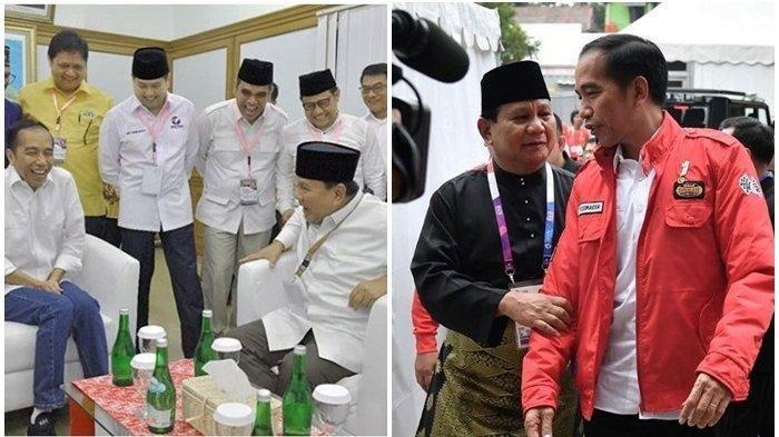Saling Bertarung di Pilpres 2019, Namun Ini 8 Momen Langka Jokowi & Prabowo Akrab, Ada yang Pelukan