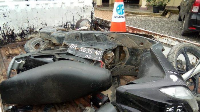 Kendaraan roda dua yang dikendarai korban atas nama Susilo Wati (32)