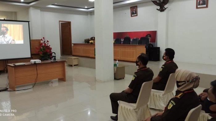 Kajati Jambi Hadiri Rakernas Virtual Kejaksaan yang dibuka Presiden Joko Widodo