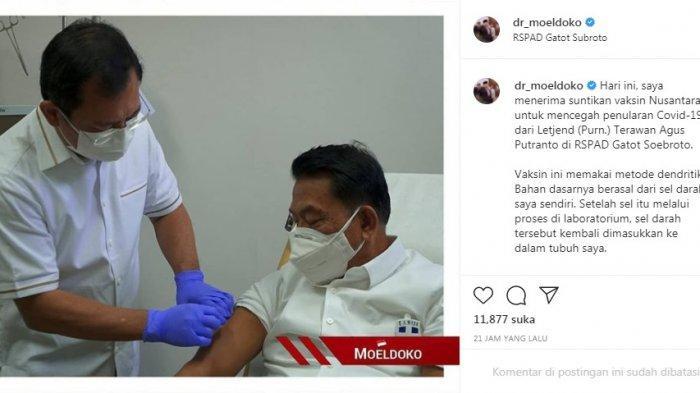 Moeldoko Disuntik Vaksin Nusantara Walau Sudah Divaksin 2 kali : Saya Menghargai Kerja Anak Bangsa