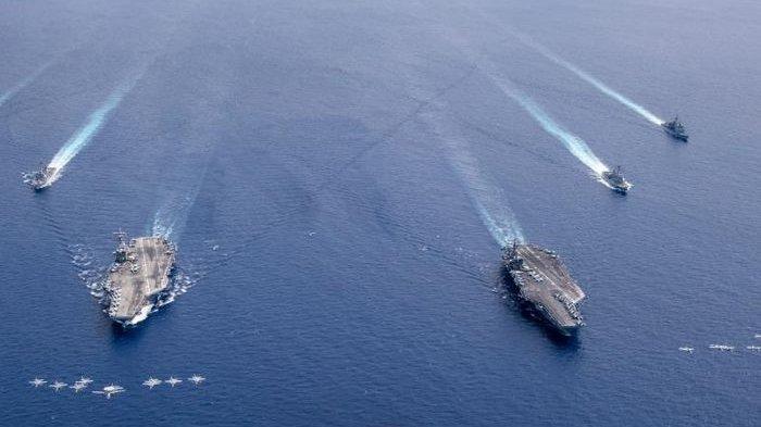 Ketegangan Hampir Berbuah Perang Samudera, Militer AS dan Tiongkok Gelar Latihan di Laut China Selatan Saling Berhadapan: Mereka Melihat Kami dan Sebaliknya