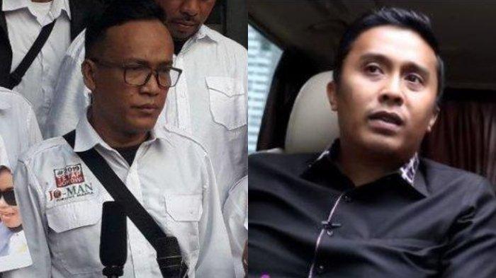 Kolase foto Ketua Jokowi Mania Immanuel Ebenezer dan Ketua DPP Partai Gerindra Vasco Ruseimy.