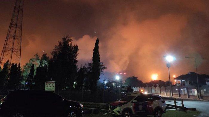 Kilang Minyak Pertamina di Banyuwangi Diduga Terbakar akibat Sambaran Petir