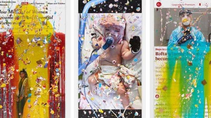 Kisah-Kisah dan Berita Covid-19 Jadi Inspirasi Seniman Ini untuk Ciptakan Karya Seni Lukisan