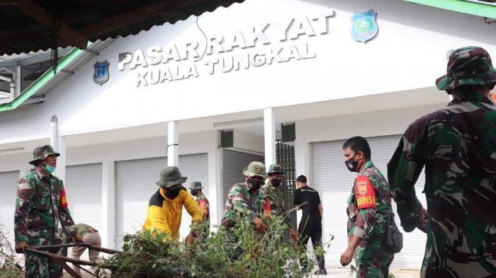 Kodim 0419/ Tanjab Melakukan Kegiatan Gotong Royong Bersama Pemda/Forkopimda, Kepolisian & Warga