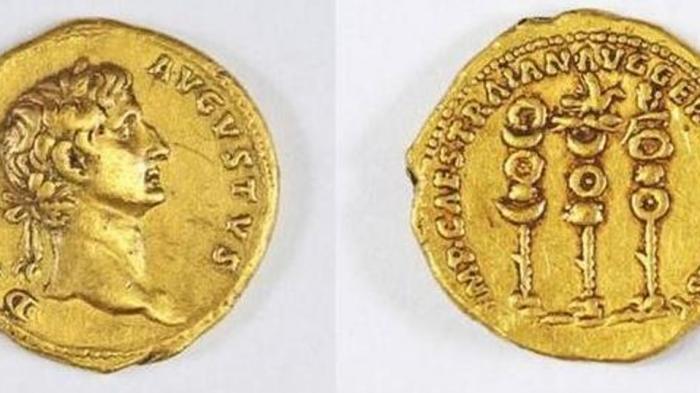 Langka, Hanya Ada 2 di Dunia, Koin Emas Berwajah Kaisar Romawi