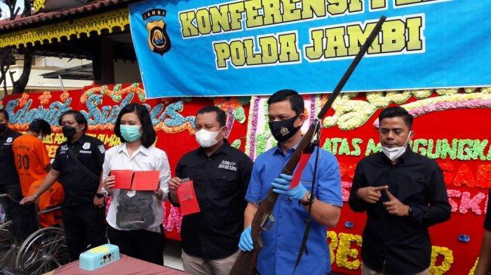 Sembunyi Dalam Hutan Sebulan, Dua Pelaku Penembak tauke Getah di Sarolangun Jambi Ditangkap Polisi