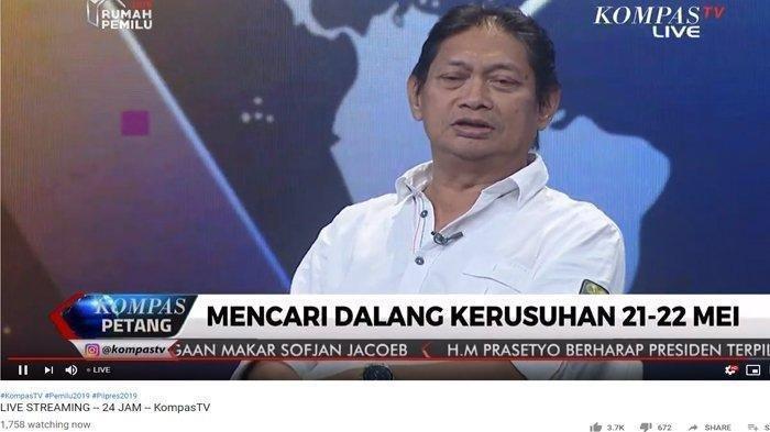 Pengakuan Hermawan Sulistyo di Kompas TV, Kisah Satu Bulan Dicari Kivlan Zen untuk Dibunuh