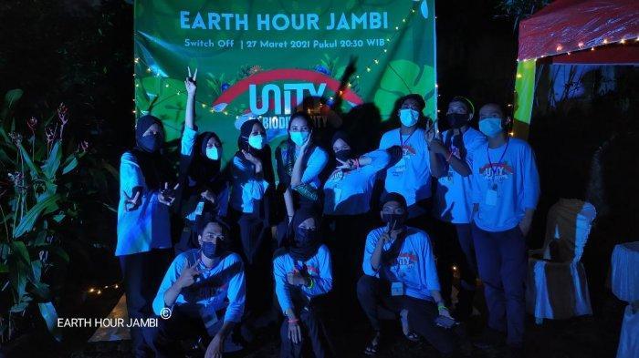 Puncak Switch Off 2021 di Jambi Earth Hour Matikan Lampu dan Peralatan Elektronik Selama Satu Jam