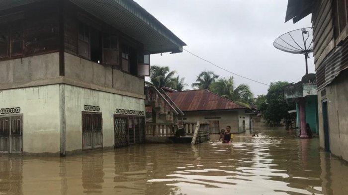 Desa Rantau Limau Manis Merangin Banjir, Ketinggian Air Capai 2 Meter, Kades Sebut yang Terparah