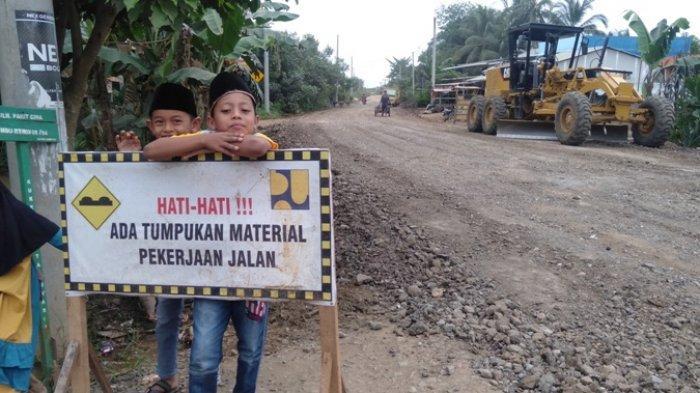 Kerap Jadi Keluhan, Jalan Lintas di Sabak Ulu Bakal Dicor, Dapat Gelontoran Anggaran Rp 1,7 Miliar