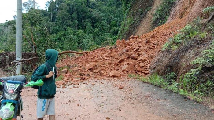 Longsor di Perbatasan Desa Rantau Panjang Sarolangun Baru Diketahui Hari Ini, Ini Penyebabnya