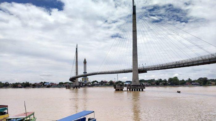 Tinggi Debit Air Sungai Batanghari Telah Surut dan Kembali Normal