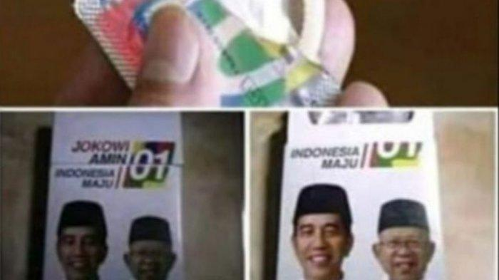 VIRAL Foto Kond0m Gambar Capres Jokowi-Ma'ruf, TKN : Itu Kampanye Hitam