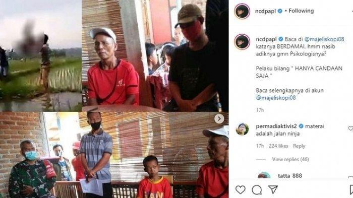 Pemuda Viral karena Melempar Bocah ke Kubangan Lumpur Minta Maaf : Sudah Biasa dan Cuma Bercanda
