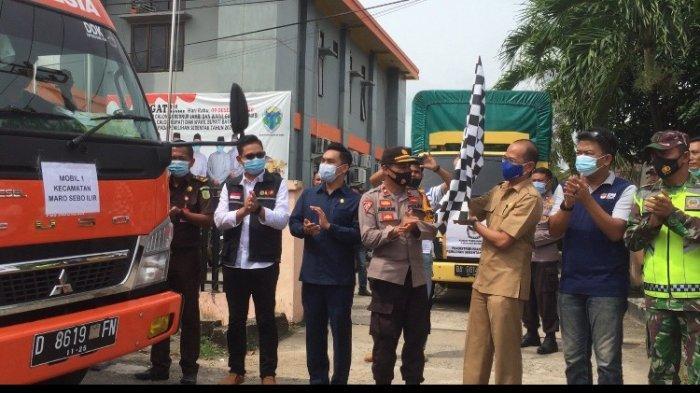 Komisi Pemilihan Umum Kabupaten Batanghari mulai mendistribusikan logistik Pilkada ke lima kecamatan, Senin (7/12/2020)