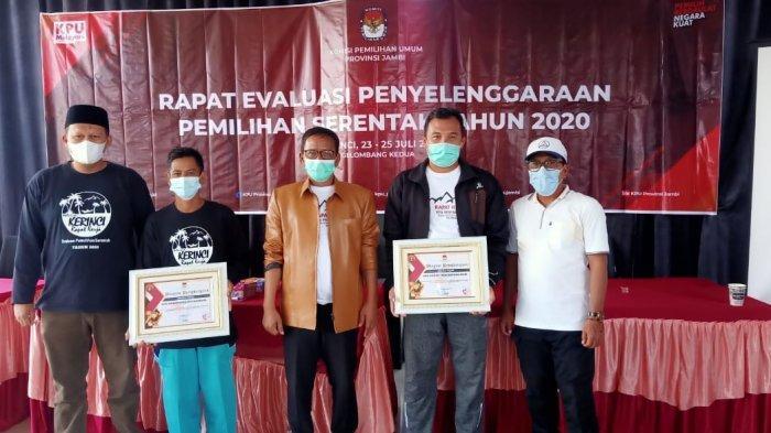 Partisipasi Pemilih Pilkada 2020 di Atas 80 Persen, KPU Batanghari Raih Penghargaan Terbaik se-Jambi