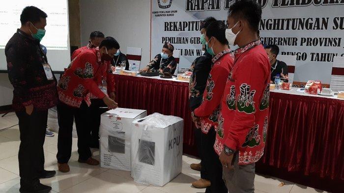 Pleno Rekapitulasi Hasil Pilgub Jambi di Bungo Untuk Kecamatan Tanah Sepenggal Lintas Dipendin