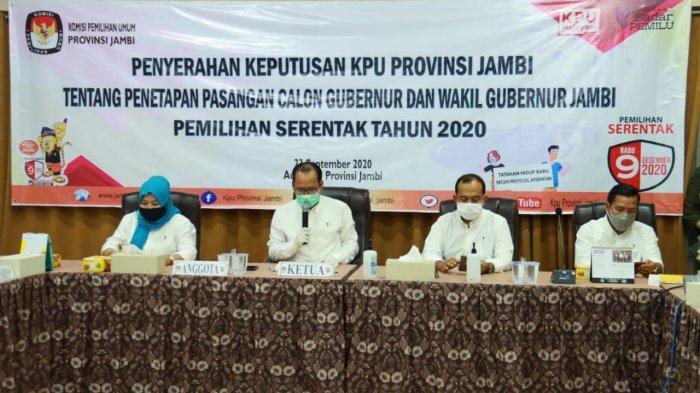 BREAKING NEWS Nomor Urut Cagub dan Cawagub Pilgub Jambi 2020 Ada 3 Pasangan Calon