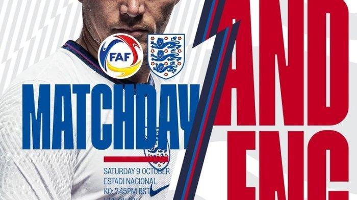 Link Nonton Hingga Prediksi Andorra vs Inggris, Catatan Timpang H2H dan Line Up Tim