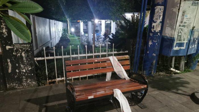 Nekat Rusak Spanduk Imbauan PPKM di Kursi Taman Pedestrian, Tiga Pemuda Ditangkap Polisi