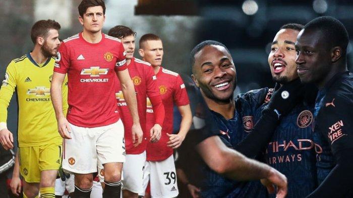 HEAD TO HEAD Manchester City Vs Man United, Live Streaming Pertandingan, Kick Off Pukul 23.00 WIB