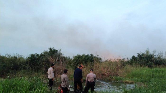 Polres Muarojambi Selidiki Kasus Karhutla di Desa Kemingking