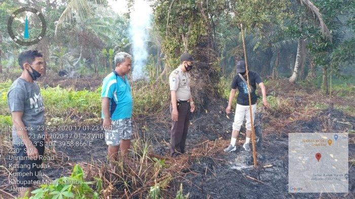 Satreskrim Polres Muarojambi Kembali Amankan Terduga Pelaku Pembakaran Hutan dan Lahan