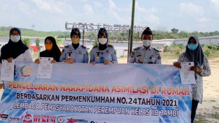 Tiga Perempuan Warga Binaan Lapas Kelas IIB Jambi Bebas Saat Idul Adha