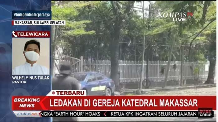 Pastor Wilhelmus Tulak dalam telewicara di Kompas TV menjelaskan kronologi bom bunuh diri di Gereja Katedral Makassar