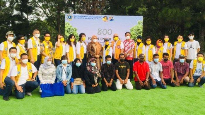Tanam 800 Pohon Berbagai Jenis, Perkumpulan Lions Indonesia Hijaukan Jambi
