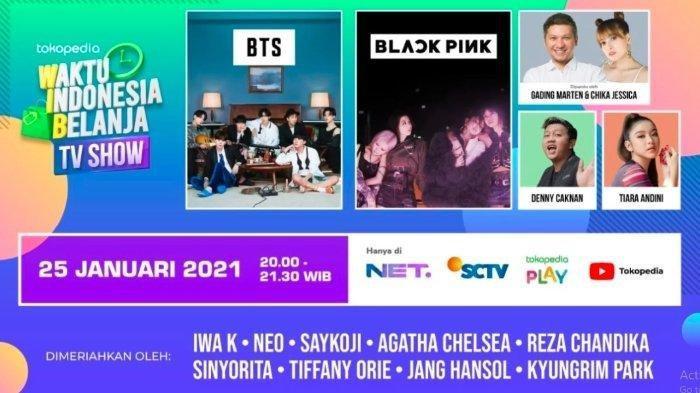 Live Streaming BTS dan BLACKPINK di Tokopedia WIB Malam Ini, Pesta Promo Brand Pilihan