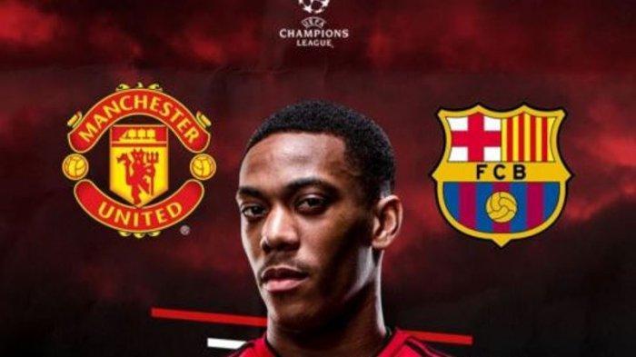 Live Streaming Live Score Manchester United vs Barcelona LIVE Champions League, Kick Off 02.00 WIB