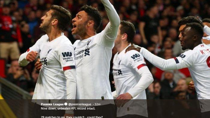 Hasil Manchester United Tadi Malam, Liverpool Belum Terkalahkan, Ini Klasemen Sementara Liga Inggris