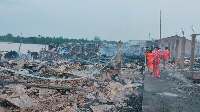 Pengungsi Korban Kebakaran di Desa Mendahara Tengah Membutuhkan Air Bersih