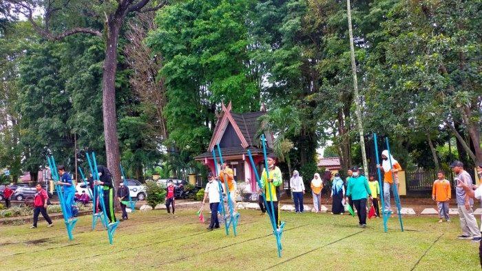 Lomba Engrang di Museum Siginjei Jambi Diikuti SMP se-Kota Jambi