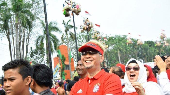 Lomba Makan Kerupuk Hingga Tangkap Itik, Keseruan di Semarak Merah Putih di Kantor Walikota Jambi