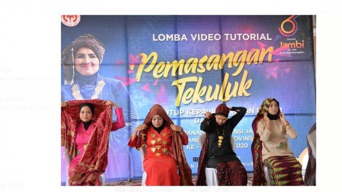 Sosialisasikan Cara Pemakaian Tengkuluk, Dekranasda Provinsi Jambi Gelar Lomba Video Tutorial