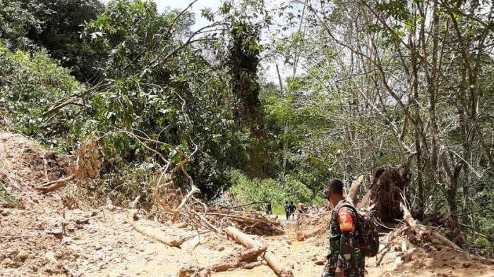 Longsor Kembali Tutup Akses Jalan Bangko-Kerinci, Danramil Sungai Manau Harap Masyarakat Bersabar