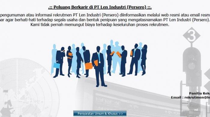 Lowongan Kerja BUMN di PT Len Industri untuk Lulusan S1, Simak Persyaratannya
