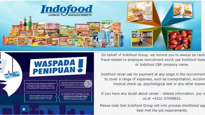 Lowongan Kerja Lulusan SMA hingga Lulusan S1 di Indofood