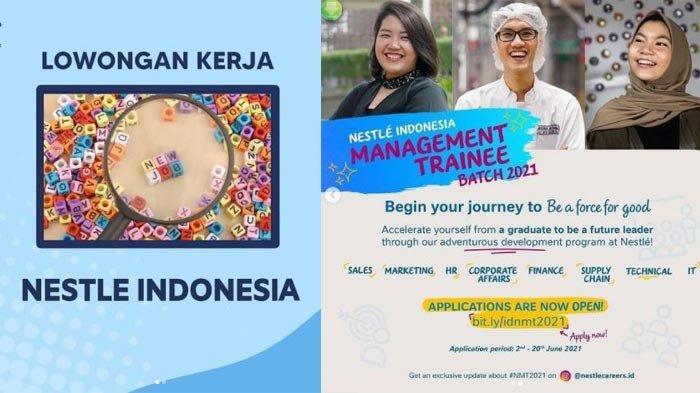 Lowongan Kerja PT Nestle Indonesia untuk Lulusan S1, Simak Persyaratannya