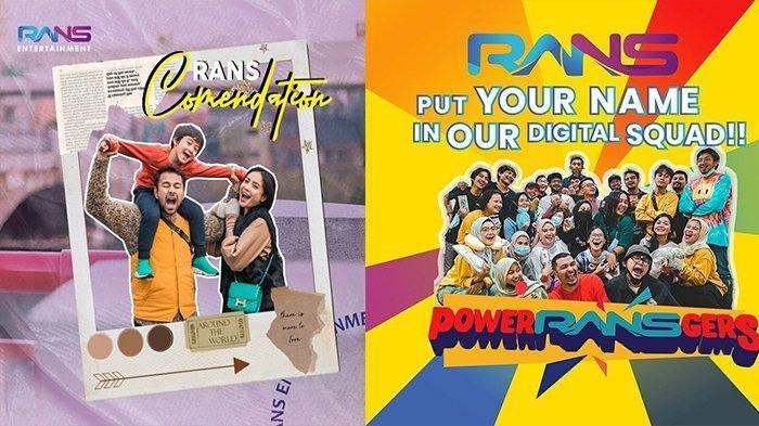 Lowongan Kerja di Rans Entertainment Bisa Jadi Anak Buah Raffi Nagita, untuk Lulusan SMA hingga S1