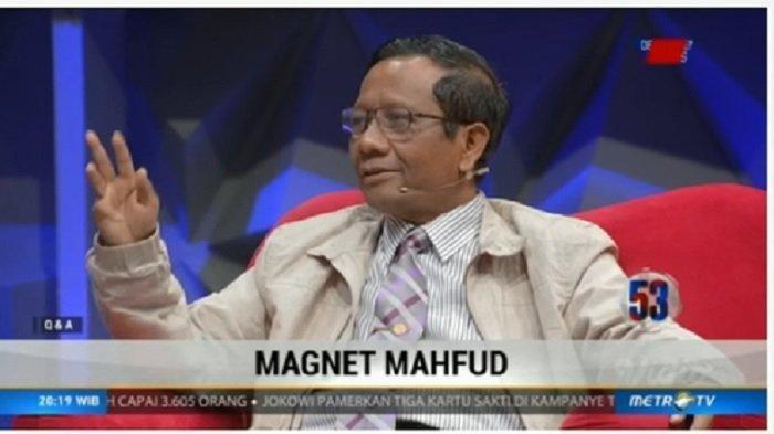 Mahfud MD Bandingkan Jokowi Dengan Prabowo, Lihat Cara Penyampaian Mahfud MD Dari Tangannya