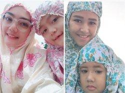 Idul Fitri 2018, Ini Dia Deretan Mama Cantik yang Selfie Bersama Anak Usai Salat Ied, WOW!