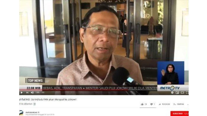 Mahfud MD Saat KPK Diserahkan ke Presiden: