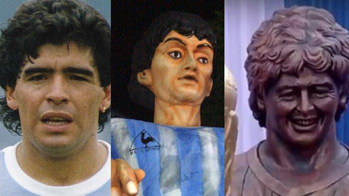 Gagal Paham, Lihat Patung Maradona yang Baru Diresmikan Bikin Geleng-geleng Kepala