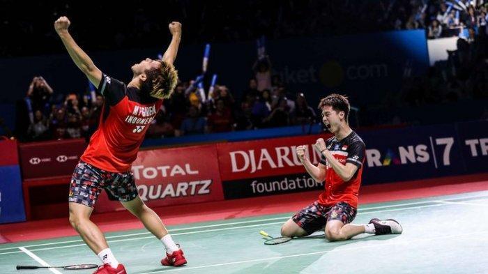 Taklukan Han/Zhou, Ganda Putra Marcus/Kevin Amankan Tiket Semifinal Denmark Open 2019